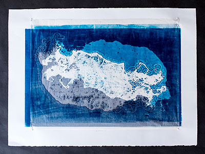 Monoprint from Textiles
